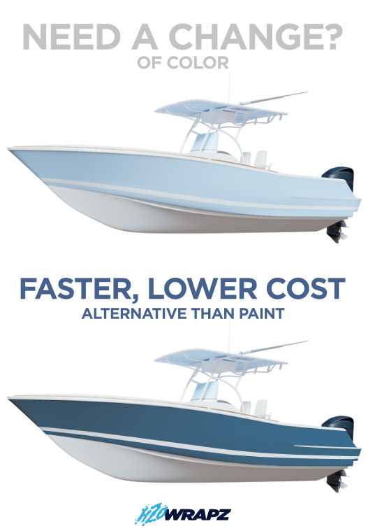 vinyl, boat wrap, color change vinyl boat wrap